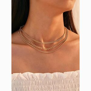 Dainty Gold Layered Delicate Chain Choker Necklace